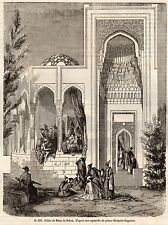 IMAGE 1849 ENGRAVING AZERBADJAN BAKOU BAKI PALAIS DU KHAN PALACE