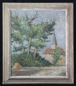 Oil on canvas Impressionist landscape attributed to richard of normandy?