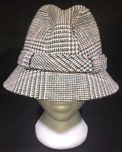 Image is loading Vintage-Country-Gentleman-Wool-Tweed-Fedora-Hat 2dc3f08ad5e