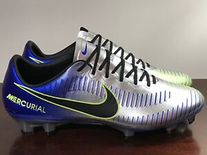 reasonable price huge selection of free shipping Details about Nike Mercurial Vapor Neymar XI NJR FG ACC Blue Silver Cleats  921547-407 Size 7