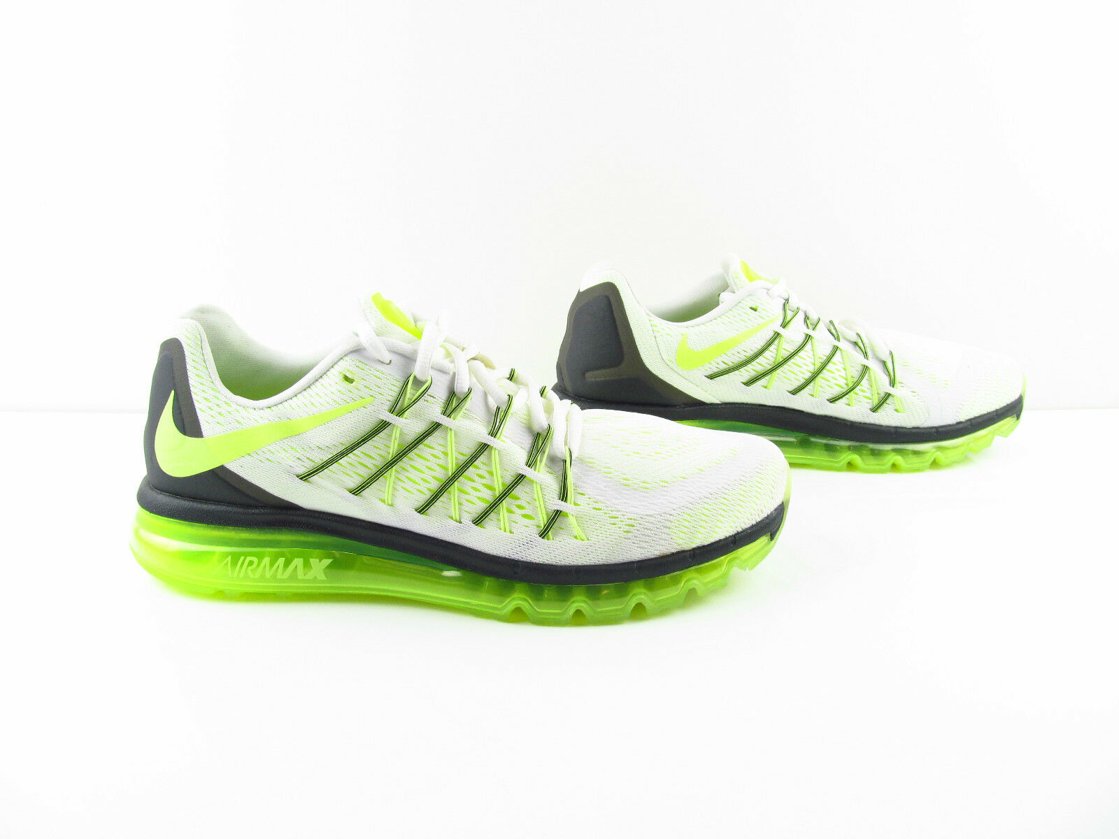 Nike Air Max 2018 Noir blanc Volt Noir Green Multicolor Running Eur 44.5 45.5