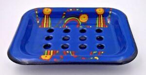 Fotos Inkl Intelligent Emaille Seifenschale Lt Auffangschale Harmonische Farben Motiv Katze 13x10,5x2cm