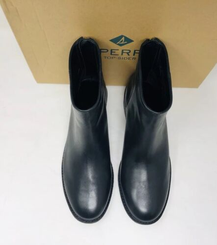 Sperry Top-Sider Women/'s Maya Belle Leather Chelsea Booties Black Pick A Size