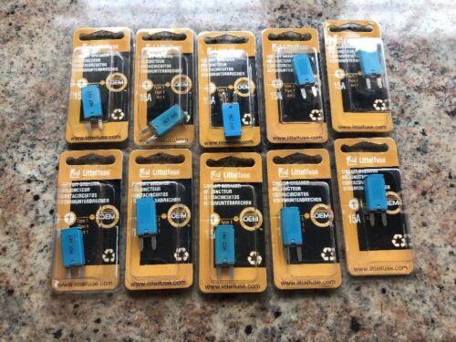 Littelfuse 10-15A   ATM Mini Blade Circuit Breaker Type 1 auto reset
