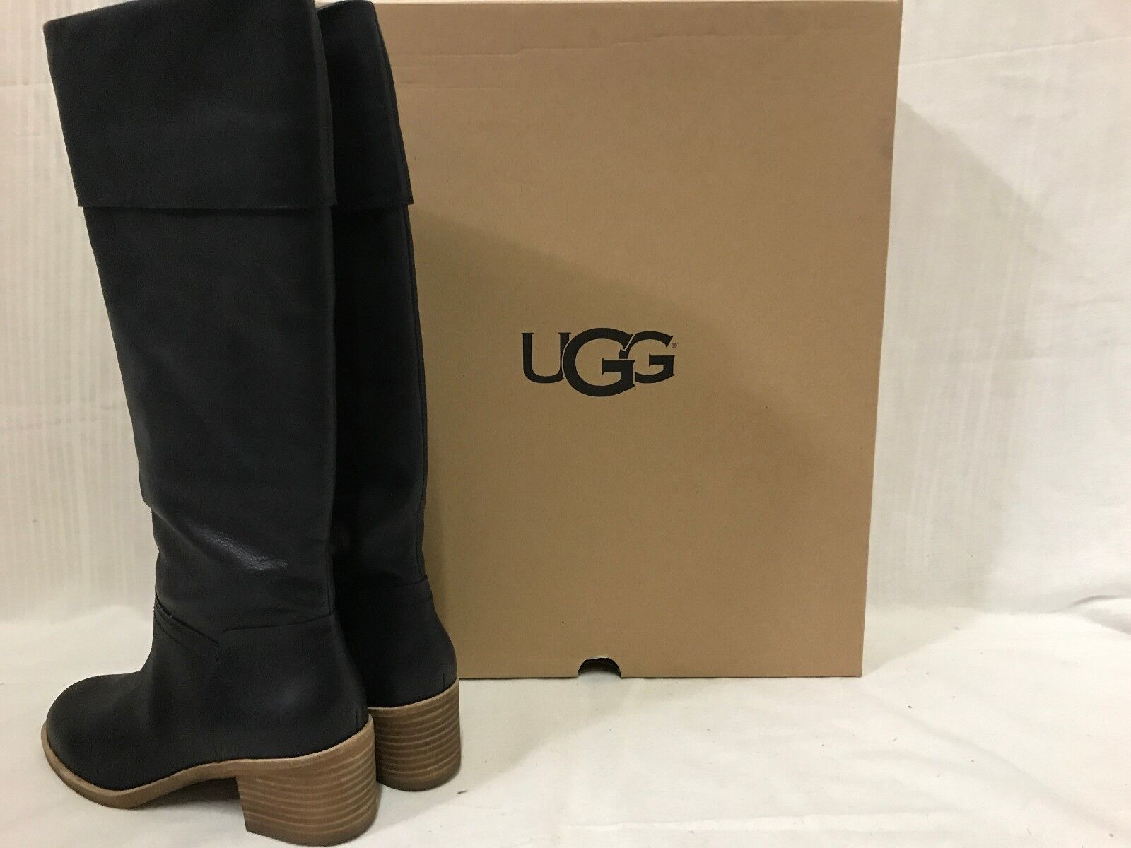 78129b51c661 UGG Women s Carlin Block Heel Tall BOOTS Size 10   D4 12 Blemish for sale  online