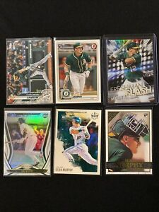 (6) Card Lot SEAN MURPHY 2020 Rookie RC Topps Chrome Bowman Gallery Certified