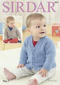 596d699006b4 Image is loading Sirdar-4847-Knitting-Pattern-Baby-Cardigans-in-Sirdar-