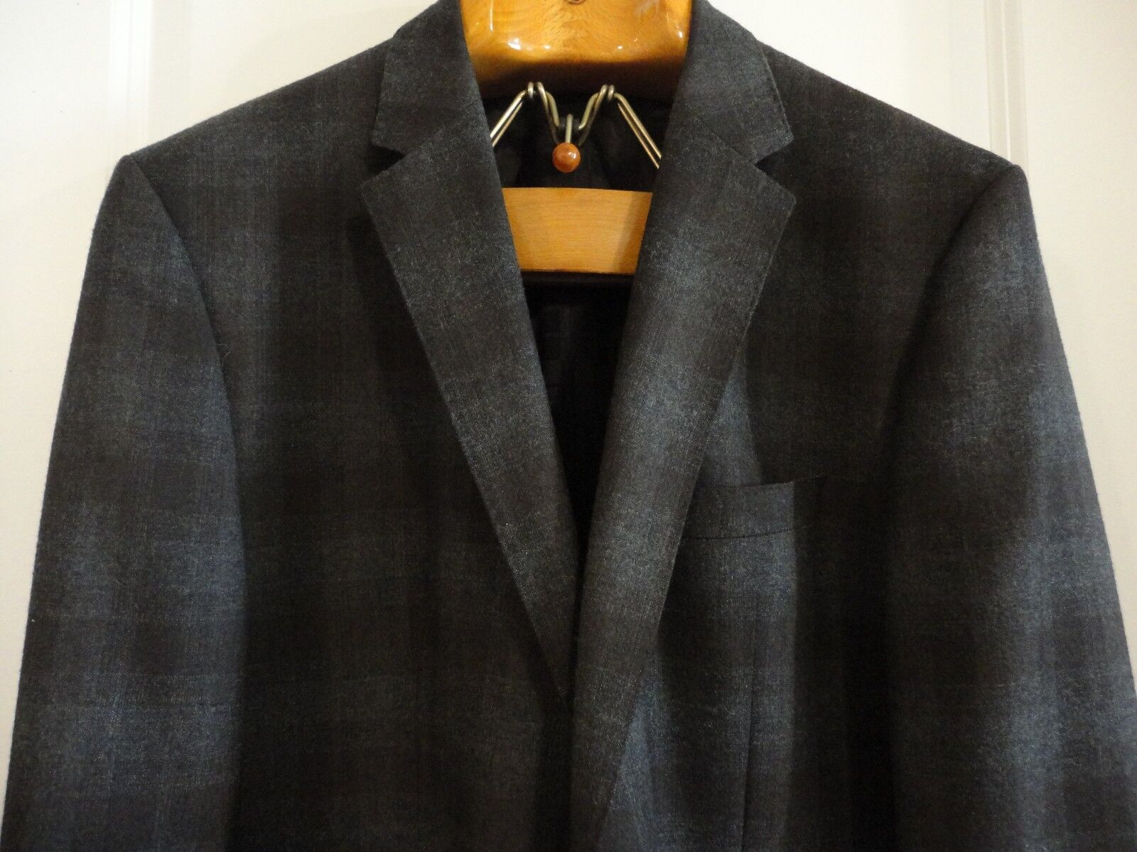 HUGO BOSS Charcoal braun Shadow Plaid Wool 2-Btn The Keys3 Blazer Jacket 44 R