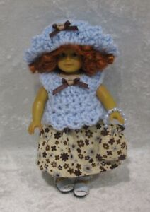 a5568518 Made to fit Mini AMERICAN GIRL #22 Top, Hat, Skirt & Purse, Handmade ...