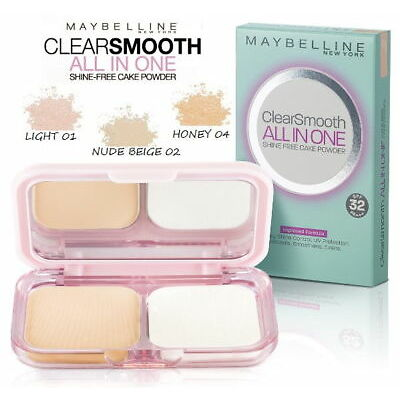 MAYBELLINE Clear Smoot All In One Powder Polvo Compacto Mate SPF 25 Maquillaje