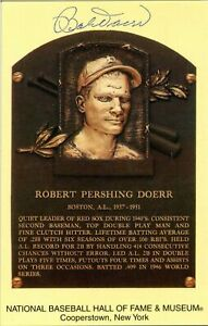 Bobby Doerr Autographed Hall of Fame Plaque