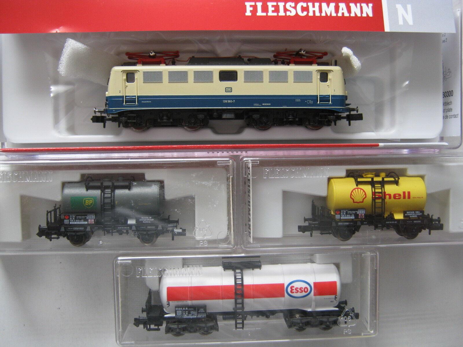 Fleischmann N 733101 Br 139 Vagón Cisterna Shell Bp Esso DB Ep.4 8411 8412 8480