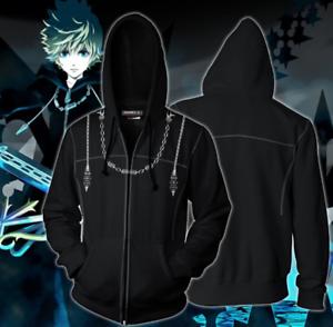 Kingdom Hearts 3D Hoodie Sweatshirts Cosplay Costume Hooded Zipper Coat Jacket
