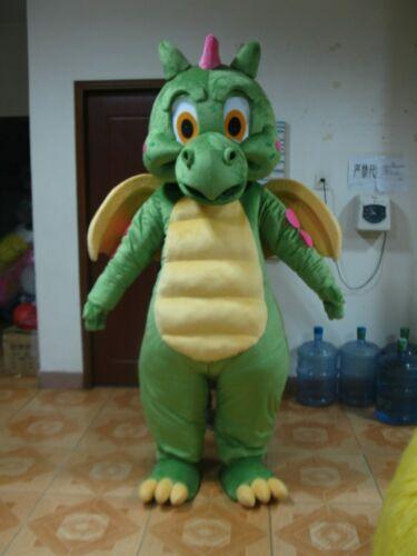 Dinosaur Mascot Costume Suit Cosplay Party Game Dress Outfit Halloween Adult NEW