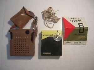 Vintage Toshiba Transistor 6 portable radio Model 6TP-357 ...