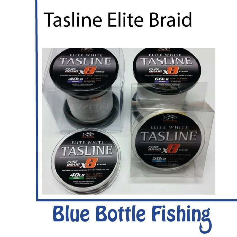 NEW Tasline Elite bianca Braid 80lb 1000m from blu Bottle Marine