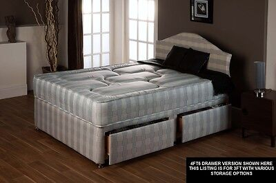 lowest price 54074 705ce EXTRA LONG SINGLE LUXURY ORTHO SPRUNG DIVAN BED - 3ft X 6ft6 - UK MADE    eBay