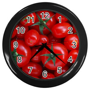 Image Is Loading New Wall Clock Culinary Red Cherry Tomatoes Tomato