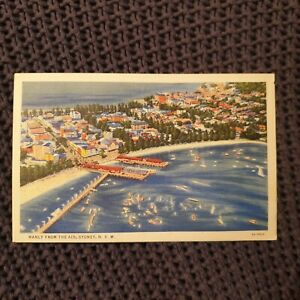 Manly-From-the-Air-Sydney-NSW-Vintage-Postcard