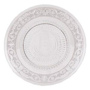Teller-20-cm-Glas-Glasteller-Dekor-Keksteller-Kuchenteller-Dessertteller-Kuchen
