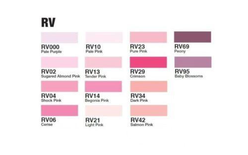 Os marcadores Copic Ciao-Vermelho Tons Violeta-Recarregável com tintas Copic various