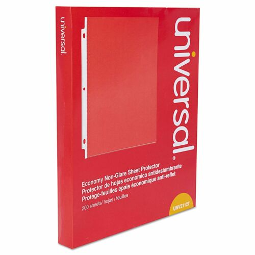 Universal Top-Load Poly Sheet Protectors Letter 200//Box Economy Nonglare