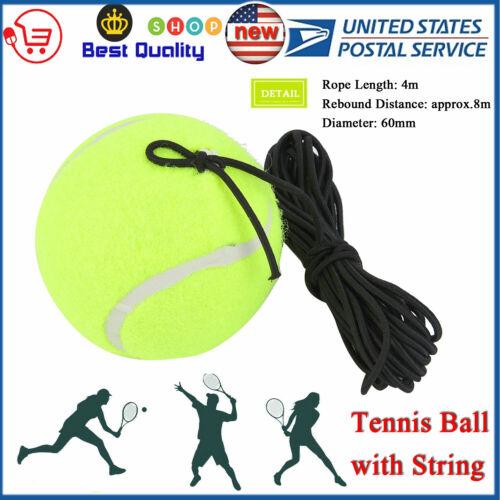 New Rubber Woolen Tennis Ball Beginner Training Ball with Elastic Rubber String
