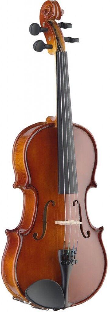 4/4 vollmassive Ahorn Violine m. Eboni Griffbrett im Standard Formkoffer, VKR.