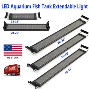 Classic-LED-Aquarium-Light-White-amp-Blue-Fish-Tank-Light-with-Extendable-Brackets