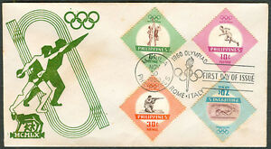 1960-Philippines-OLYMPIAD-First-Day-Cover