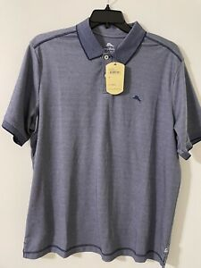 TOMMY BAHAMA Men's POLO SHIRT  SIZE (XL) Throne Blue Color NWT $89.5