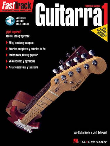 FastTrack Guitar Method Spanish Edition Level 1 Guitarra Book//Audio 000695593