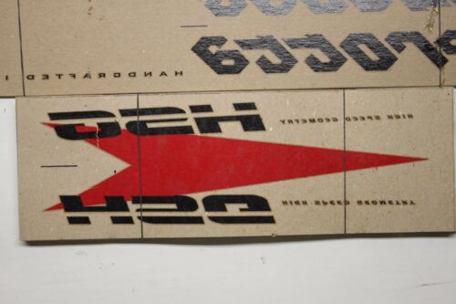 Genuine NOS BLACK Serotta HSG Ultra Thin Bike Frame Decals OEM Sticker Set