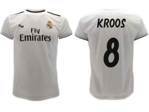 sports shoes 35851 d368b Details about Shirt Real Madrid Kroos 2019 Official Uniform 2018 Toni 8  Home Bianca