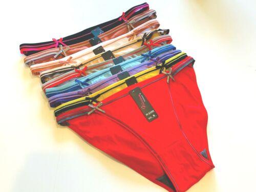 6-12 Bikini Cheeky Hipster Femme Coton 95 sous-vêtements Culotte Culotte Sous-Vêtements S-XL