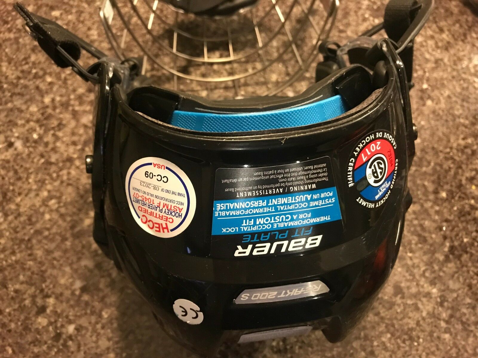 Men's Small Bauer Re akt 200 Helmet with cage