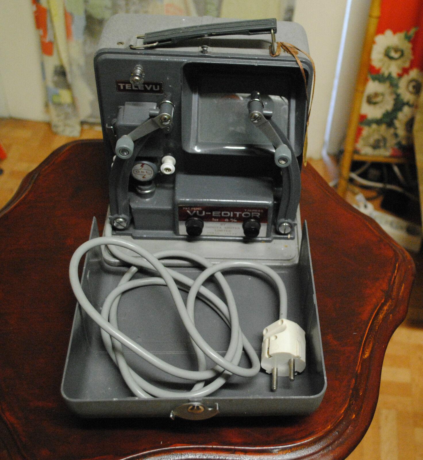 50° Vu Editor Tele Vu Proiettore cinematografico 8mm Made in Japan