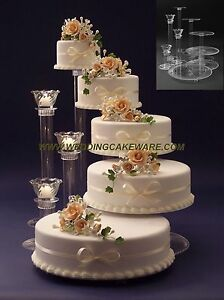 5 TIER CASCADING WEDDING CAKE STAND STANDS / 3 TIER CANDLE STAND | eBay