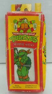 Vintage-Teenage-Mutant-Ninja-Turtle-Slipper-Socks-Donatello-1991