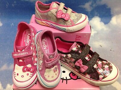 Keds Hello Kitty Hook /& Loop Closure Sneakers Collection Toddler Size 5.5 to 12