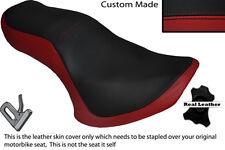 BLACK & DARK RED CUSTOM FITS KAWASAKI EN 500 VULCAN 90-09 DUAL SEAT COVER
