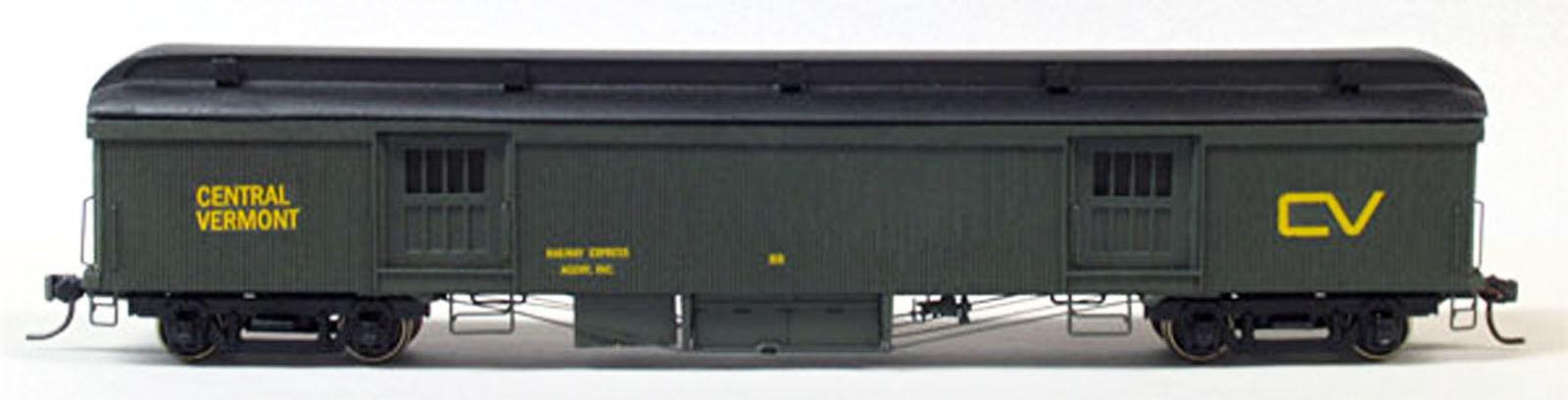 CENTRAL VERMONT WOOD BAGGAGE CAR HO Model Railroad Unpainted Craftsman Kit SPK40