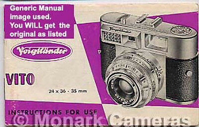 More Camera User Manuals /& Owners Guides Listed Nikon EM Instruction Book