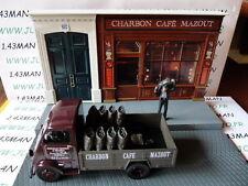 Voiture + diorama 1/43 IXO : TEST Charbon Peugeot DMA plateau + figurines