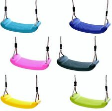 Moulded Plastic Kids Replacement Childrens Single Swing Seat by Rebo - 6 Colour