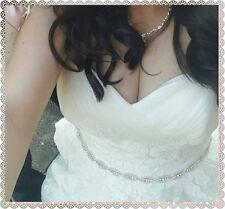 RUBY Rhinestone Crystal Diamante Bridal Sash Wedding  Belt Any Colour Sash