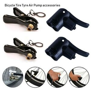 Valve-Bicycle-Tire-Air-Pump-Inflator-Nozzle-Clip-Multi-use-FV-AV-Valve-Connector