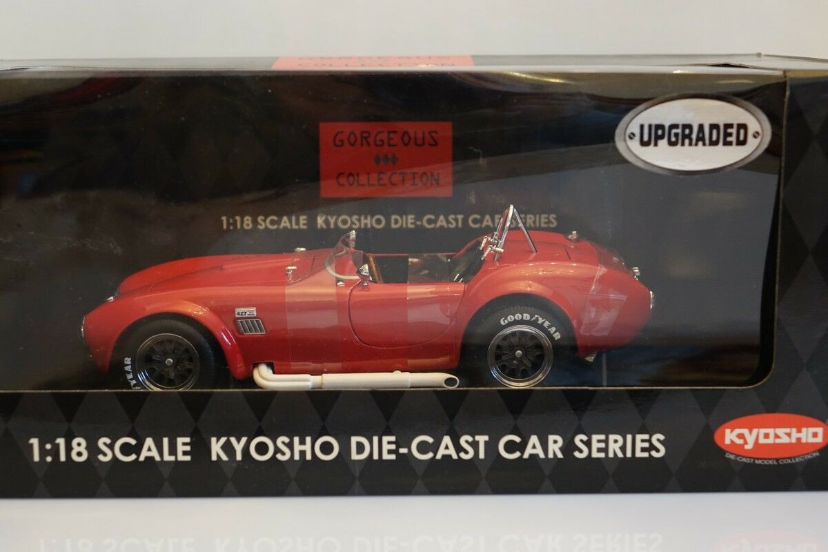 SHELBY COBRA 427S/C, RACING SCREEN, 1:18, KYOSHO 08046R