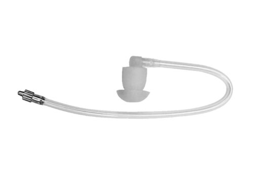 Impact QDAT-SH Clear Coiled Acoustic Straight Audio Tube for AT4 Earpiece Kits