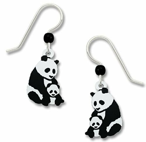 Sienna-Sky-Mother-and-Baby-PANDA-Bear-Earrings-STERLING-SILVER-Dangle-Gift-Box